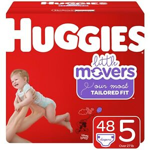 Huggies Little Movers Diapers, Size 5 - 48Ct Big Pack