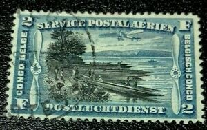 Belgian Congo: 1921 Airmail 2 Fr. Rare & Collectible Stamp.