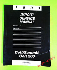 1991 Dodge Plymouth Colt Colt 200 Eagle Summit Electrical Service Repair Manual