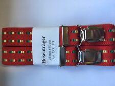 Tirantes Rojo Con Patrón Para Niños 4 clipse 80cm largo Estable GOMA