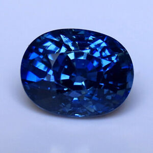 4.12 Cts GIA CERTIFIED NATURAL UNHEATED BLUE SAPPHIRE OVAL WATCH THE VIDEO