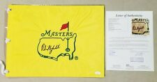 PHIL MICKELSON SIGNED AUTOGRAPHED UNDATED MASTERS FLAG JSA LETTER FREE SHIPPING