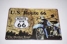 Tin Metal Sign man cave shed motorbike workshop Motorcycle U.S. Route 66