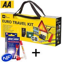 AA France European Travel Kit Car Emergency Warning Triangle Breathalysers