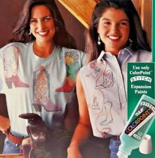 1993 Tulip ColorPoint Paintstitching Iron-On Transfer PatternBook Wild West 7809