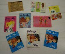 Vintage Barbie Booklet Lot Ken Fashions Mattel 1960s