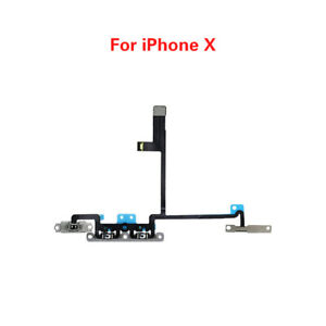 Power On Off Volume Switch Mute Button Flex Cable Ribbon Cable For iPhone X