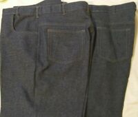 2 Pairs Haband Fit Forever Blue Polyester Pants 38 x 29