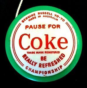 "Genuine Russell ""Pause for Coke"" Championship Yo-Yo - Made in Australia"