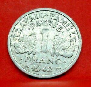 1 franc état français 1942 Légère - TB+ - monnaie collection France - N20299