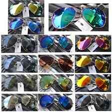 VERSAND KOSTENLOS!! Sonnenbrille Pilotenbrille Pilot Brille Verspiegelt Aviator
