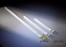 5 x Schnallriemen 500 mm, mit geschweißter Rollschnalle, Kunststoff weiß