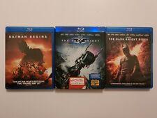 The Dark Knight Trilogy Blu-Ray Standalone Releases Batman Begins Tdk Rises