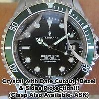 For Steinhart Ocean 1 HD Clear Crystal Bezel Sides Protector anti-scratch Set 2