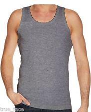 Mens Gaffer BRAND Multi Pack Lot Basic Regular Fit Cotton Vest Tank Top 2xl Grey Marl