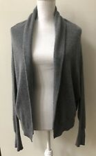Vince Women's Cashmere Cardigan Sweater Gray Size Medium Open Front