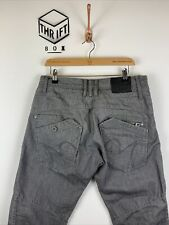 883 POLICE, Mens W32 L32, Grey Wash, Angled Pkts, Denim Jeans,*EX COND*