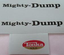 Mighty Tonka Dump truck  water slide decal set
