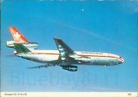Swissair DC 10 Series 30 Charles Skilton 292 Printed Postcard