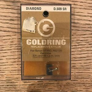 NOS GOLDRING D.509 SR DIAMOND REPLACEMENT STYLUS NEEDLE FOR SANYO ST25D, MGT25