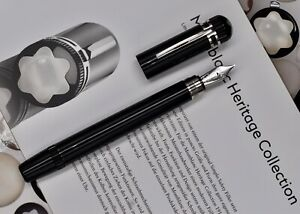 MONTBLANC Heritage Collection 1914 Limited Ed.1000 Black Fountain Pen 111353 M