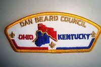 OA DAN BEARD COUNCIL SHOULDER PATCH CSP OHIO KENTUCKY GMY SERVICE FLAP