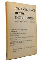 Frederick C. Gruber THE EMERGENCE OF THE MODERN MIND  1st Edition 1st Printing