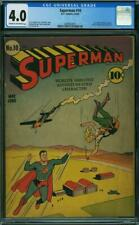 Superman #10 CGC 4.0 DC 1941 1st Luthor bald #1 Movie! 80 years old! L6 201 cm