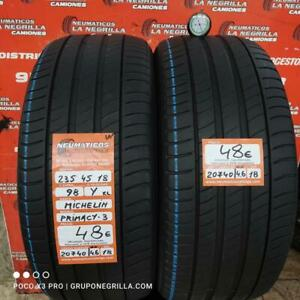 2 x 235 45 R18 98Y XL 4.6mm+4.6mm DOT 18/18 Michelin Primacy-3 Ref. 20740