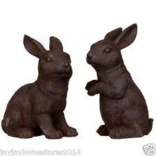 Made from resin Garden Rabbit Ornaments 2pk