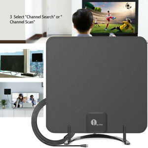 1byone Freeview TV Aerial with Stand-HDTV Antenna For Digital Freeview Analog TV