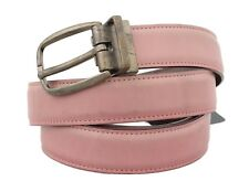 NEW $430 DOLCE & GABBANA Belt Pink Shiny Leather Gold Vintage Buckle 110cm /44in