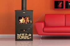 Poêle à bois 16 KW arrière chaudière brûleur foyer chauffage au Bois PRITY fonte