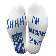 "Dr Who Ankle Lounge Socks ""DO NOT DISTURB..."" Funny Fan Gift for him, her"