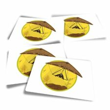 4x Rectangle Stickers - Hang Gliding Extreme Sports  #7139