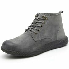 Men's Women's Suede Safety Shoes Steel Toe Work Boots Soft Trainers