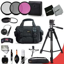 Canon EOS 6D Essential 19 Piece Accessory Kit w/ Large Case +Tripod +MORE
