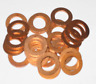 "COPPER SEALING WASHERS FLAT PLAIN OIL SUMP DRAIN FUEL METRIC PACK ""of"" 2 5 10"