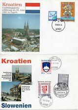 Kroatien 2 Sonderumschläge - Unabhängigkeit - Anerkennung durch die BRD (982)