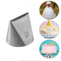 Extra Large Stainless Steel Nozzle Icing Piping Nozzles Cream Cake Decor tool