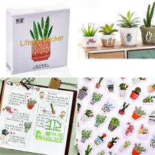 45pcs/pack DIY Diary Album Stick Label Pot Cultured Green Plants Label Stickers