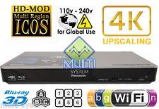 Panasonic DMP-BDT270 Region Free DVD and Zone ABC Blu Ray Player 100-240 Volts