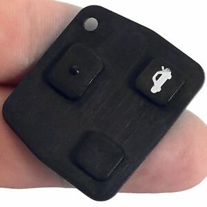 3 Buttons Replacement Car Remote Key Fob Switch Black Rubber Pad For Toyota Hot