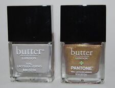 Butter London Nail Lacquer Vapour & Rich Gold New Lot of 2