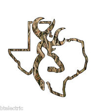 "Camo Texas Deer Hunting Realtree Decal Window Sticker Vinyl Yeti Browning - 5""H"