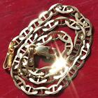 "10k 417  yellow gold solid gucci link chain bracelet 8.0"" vintage 1.9gr"