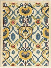 Art & Craft Mission Style Kazak Pakistan Oriental IVORY Wool Area Rug 4'x5' NEW