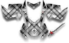 SKI DOO REV XP SNOWMOBILE SLED GRAPHICS DECAL STICKER KIT PLAID Black