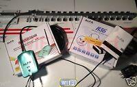 50' WiFi Antenna 18dBi YAGI + ALFA R36 + N Long Range Booster GET FREE INTERNET