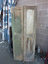 """PR c1840-50 PANELED house shutters forged hardware GREAT patina 67 x 14"""" x 1 1/8"""
